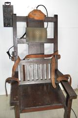 The electric chair that the state used for executions before the adoption of lethal injection.
