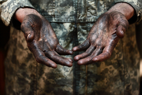 Dirty hands. Dirty faces. Low Income. No income. Children of God. Welcomed in.