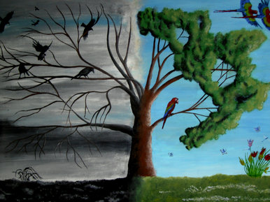 """""""Life and Death tree"""" By artist Muhammad on BBC Blast"""